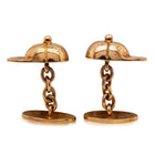 Deja Vu Gold Plated Cap Cufflinks - Walker & Hall