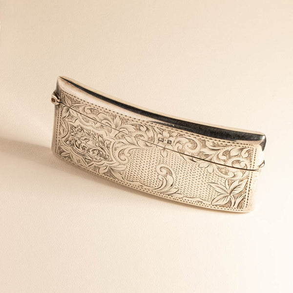 Vintage Sterling Silver Card Case - Walker & Hall