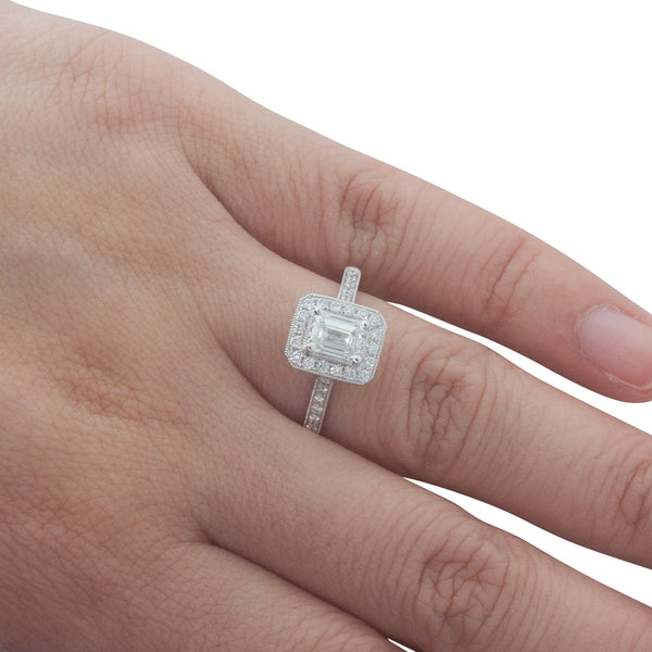 18ct White Gold .80ct Diamond Aria Ring - Walker & Hall