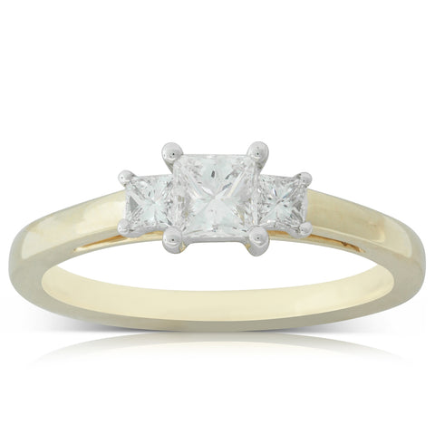 18ct Yellow & White Gold .40ct Diamond Olympus Ring - Walker & Hall