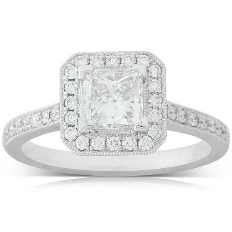 18ct White Gold 1.00ct Diamond Mandalay Ring - Walker & Hall