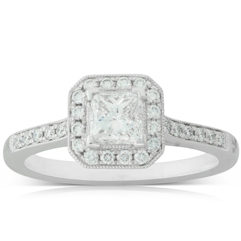 18ct White Gold .59ct Diamond Mandalay Ring - Walker & Hall