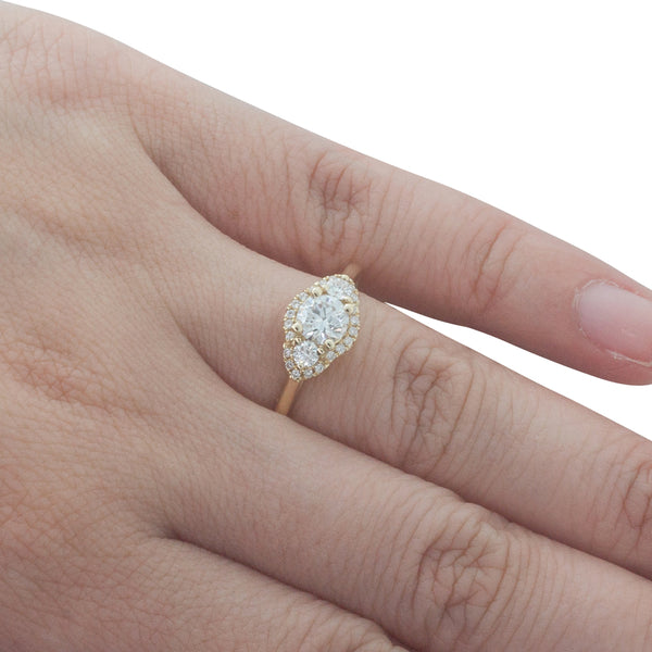 18ct Yellow Gold .50ct Diamond Posie Ring - Walker & Hall