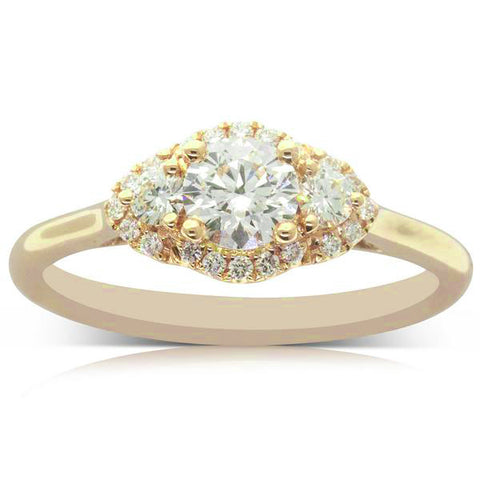 Three Stone Engagement Rings Walker Amp Hall
