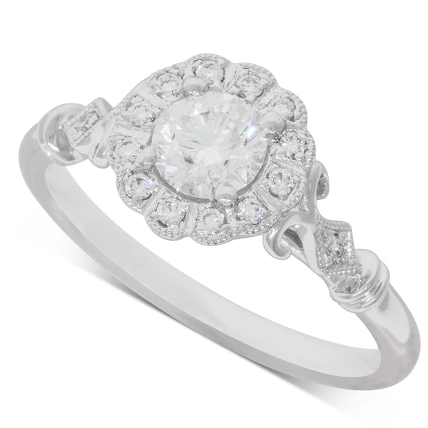 18ct White Gold .50ct Diamond Versaille Ring - Walker & Hall