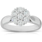 18ct White Gold .79ct Diamond Lotus Ring - Walker & Hall