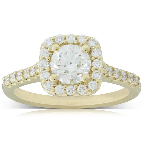 18ct Yellow Gold .81ct Diamond Manhattan Ring - Walker & Hall