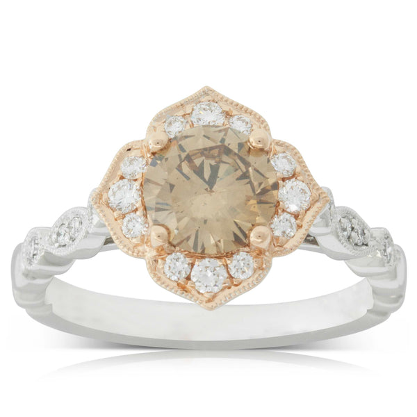 18ct White & Rose Gold 1.11ct Paramount Ring - Walker & Hall