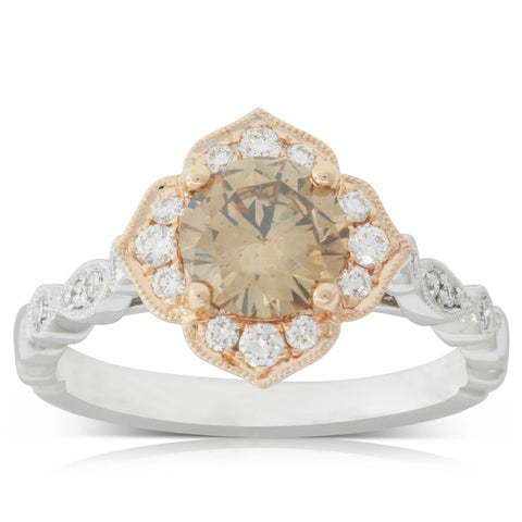 18ct White & Rose Gold 1.36ct Paramount Ring - Walker & Hall