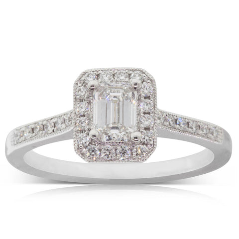 Platinum .50ct Diamond Aria Ring - Walker & Hall