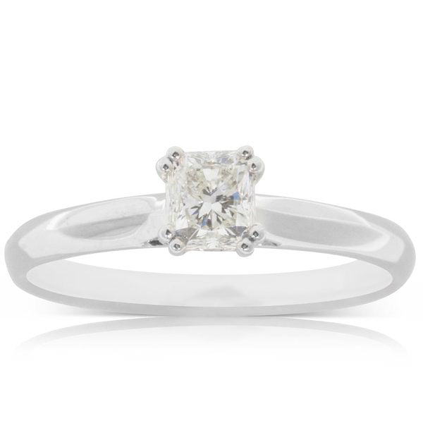 Deja Vu 18ct White Gold .50ct Diamond Solitaire Ring - Walker & Hall