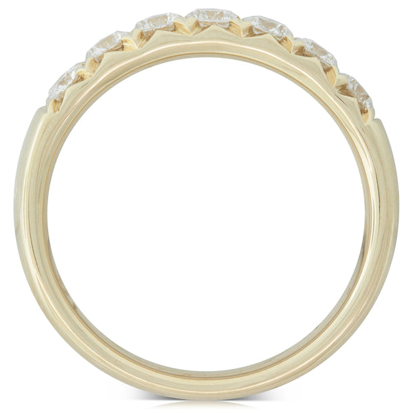 18ct Yellow Gold .65ct Diamond Claw Set Ring - Walker & Hall