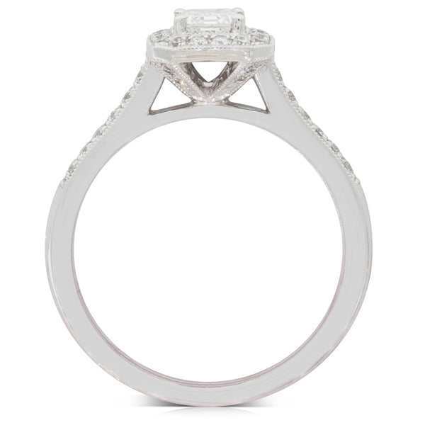 18ct White Gold .66ct Diamond Aria Ring - Walker & Hall