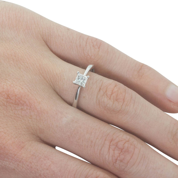 18ct White Gold .51ct Diamond Royale Ring - Walker & Hall