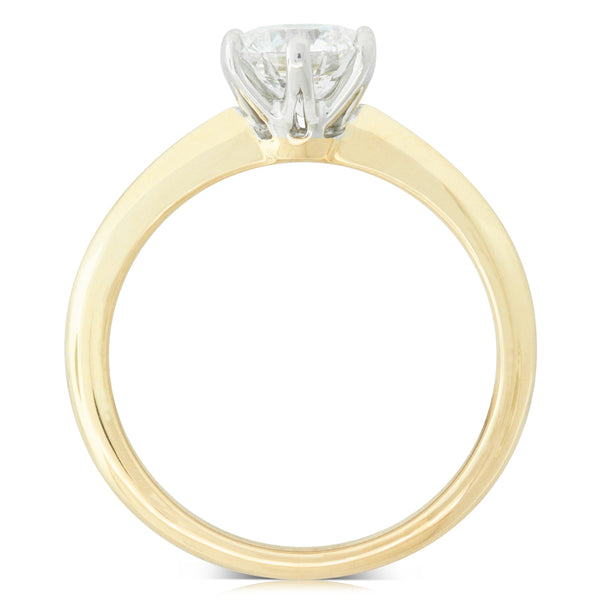18ct Yellow Gold 1.00ct Diamond Cosmopolitan Ring - Walker & Hall