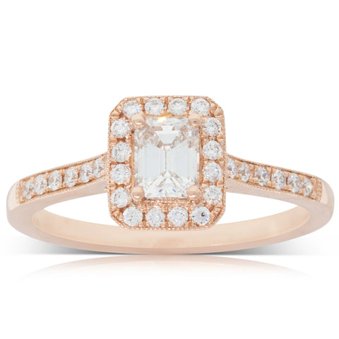 18ct Rose Gold .50ct Diamond Aria Ring - Walker & Hall