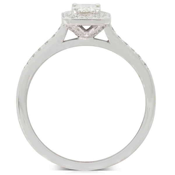 18ct White Gold .54ct Diamond Aria Ring - Walker & Hall