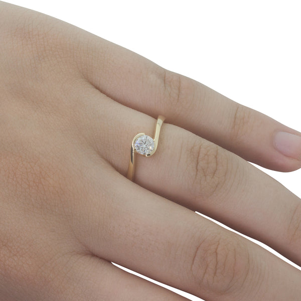 18ct Yellow Gold .51ct Diamond Embrace Ring - Walker & Hall