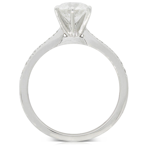 18ct White Gold 1.07ct Diamond Zenith Ring - Walker & Hall