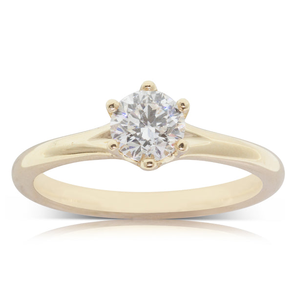 18ct Yellow Gold .70ct Diamond Grace Ring - Walker & Hall