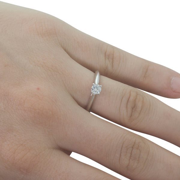 18ct White Gold .30ct Diamond Venetian Ring - Walker & Hall