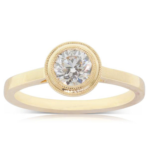 18ct Yellow Gold .70ct Diamond Windsor Ring - Walker & Hall
