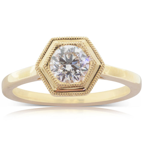18ct Yellow Gold .81ct Diamond Windsor Ring - Walker & Hall