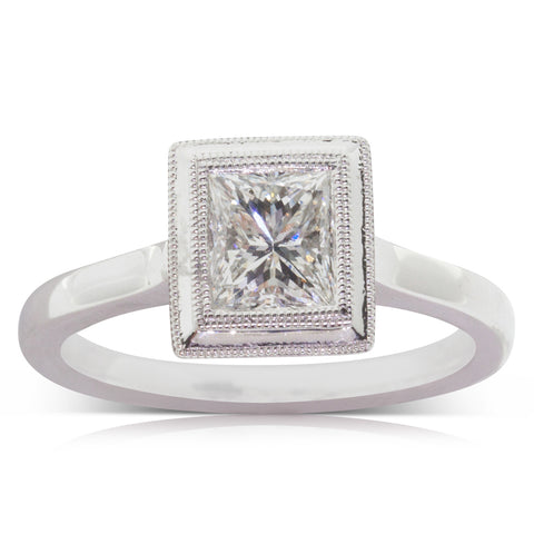 18ct White Gold 1.11ct Diamond Windsor Ring - Walker & Hall