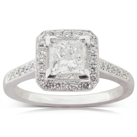 18ct White Gold 1.50ct Diamond Mandalay Ring - Walker & Hall
