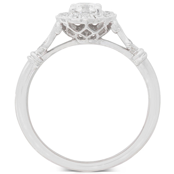 18ct White Gold .40ct Diamond Versaille Ring - Walker & Hall