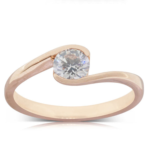 18ct Rose Gold .50ct Diamond Embrace Ring - Walker & Hall