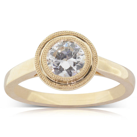 18ct Yellow Gold .71ct Diamond Windsor Ring - Walker & Hall