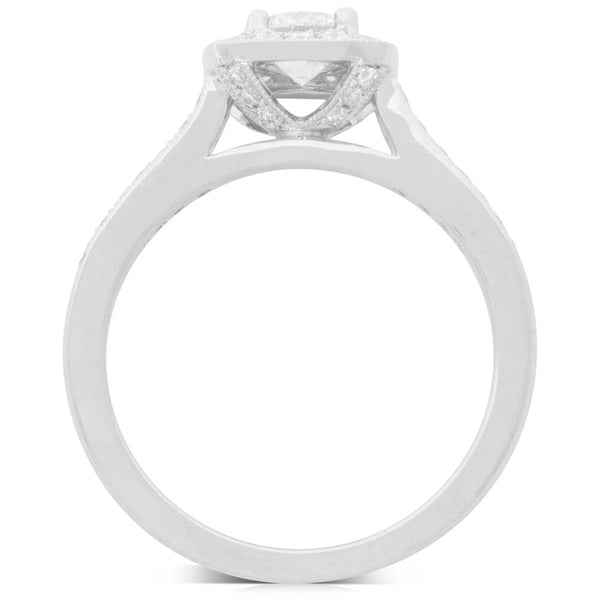 18ct White Gold .50ct Diamond Aurora Ring - Walker & Hall