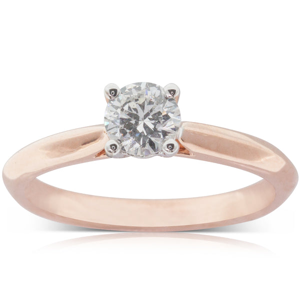 18ct Rose Gold .51ct Diamond Venetian Ring - Walker & Hall