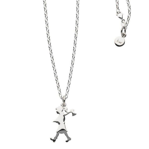 Karen Walker Girl With Axe Necklace - Sterling Silver - Walker & Hall
