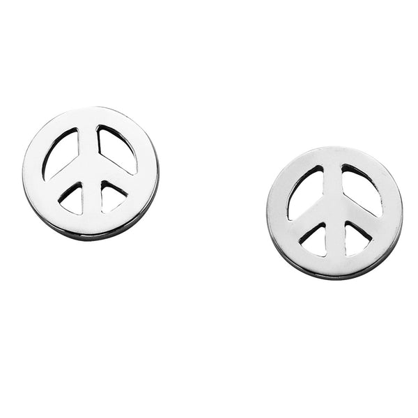 Karen Walker Mini Peace Earrings - Sterling Silver - Walker & Hall