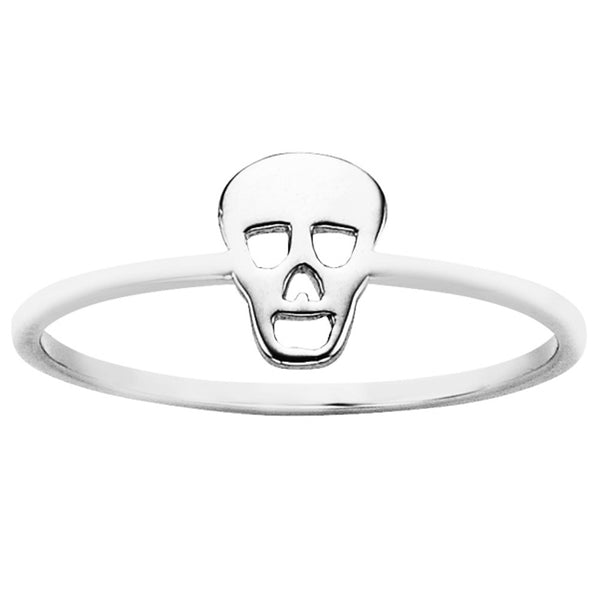 Karen Walker Mini Skull Ring - Sterling Silver - Walker & Hall