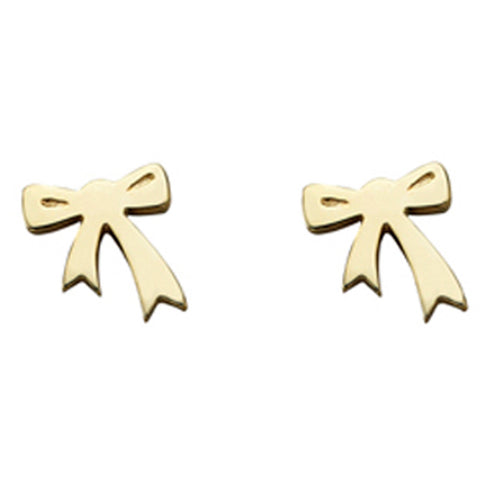 Karen Walker Mini Bow Earrings - 9ct Yellow Gold - Walker & Hall