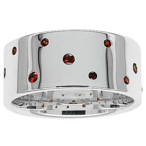 Karen Walker Scattered Garnet Ring - Sterling Silver - Walker & Hall