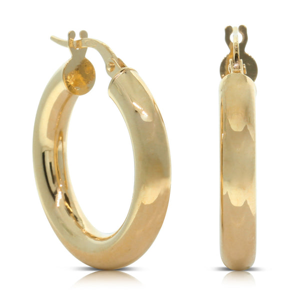 9ct Yellow Gold Classic Hoops - Walker & Hall