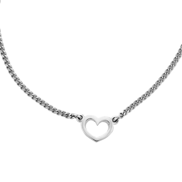 Karen Walker Mini Heart Necklace - Sterling Silver - Walker & Hall