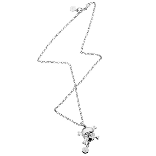 Karen Walker Skull And Tag Necklace - Sterling Silver - Walker & Hall