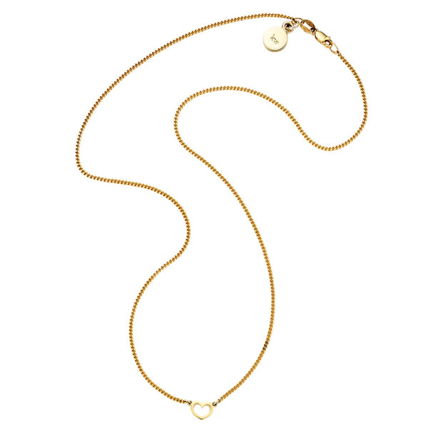 Karen Walker Mini Heart Necklace - 9ct Yellow Gold - Walker & Hall