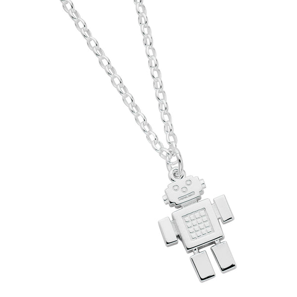Karen Walker Boy Robot Necklace - Sterling Silver