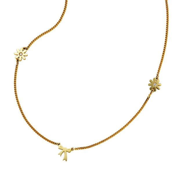 Karen Walker Mini Charm Necklace - 9ct Yellow Gold