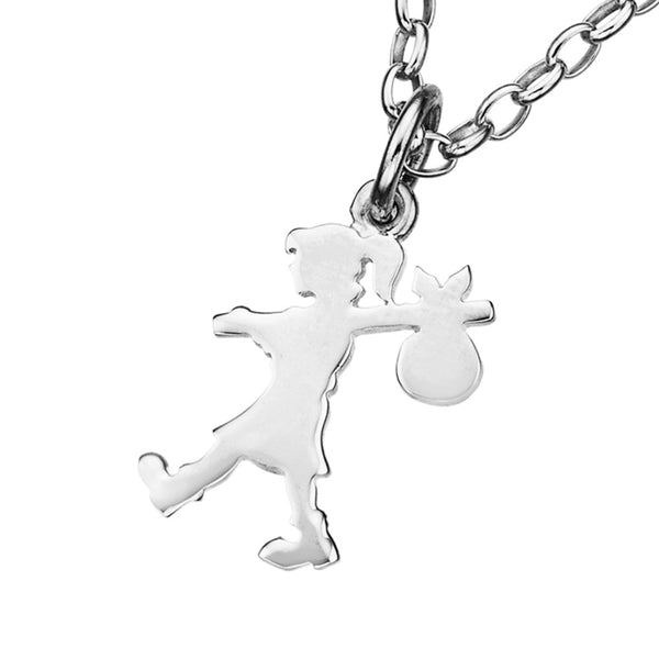 Karen Walker Runaway Girl Necklace - Sterling Silver