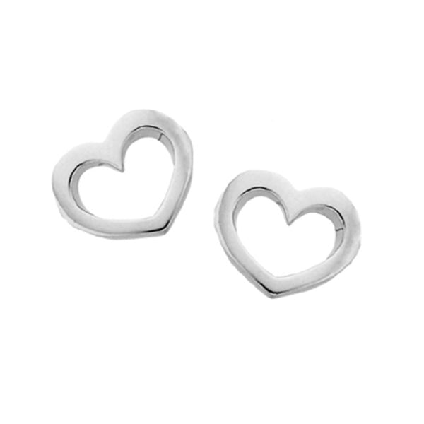 Karen Walker Mini Heart Stud Earrings - Sterling Silver - Walker & Hall