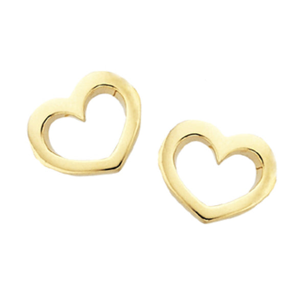 Karen Walker Mini Heart Stud Earrings - 9ct Yellow Gold - Walker & Hall