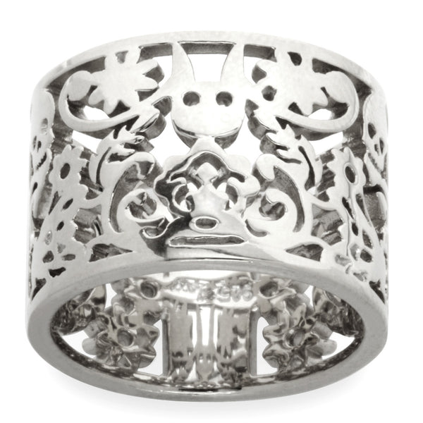 Karen Walker Filigree Ring - Sterling Silver