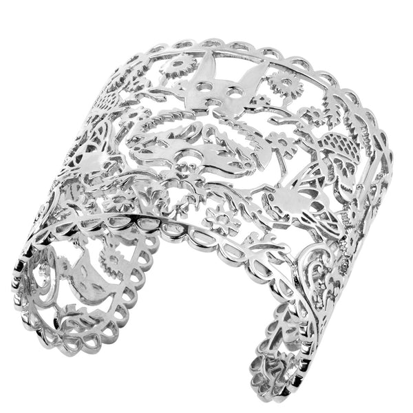 Karen Walker Large Filigree Cuff - Sterling Silver - Walker & Hall